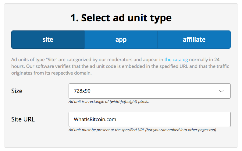 How To Earn Bitcoin With A-Ads: Size & Site URL